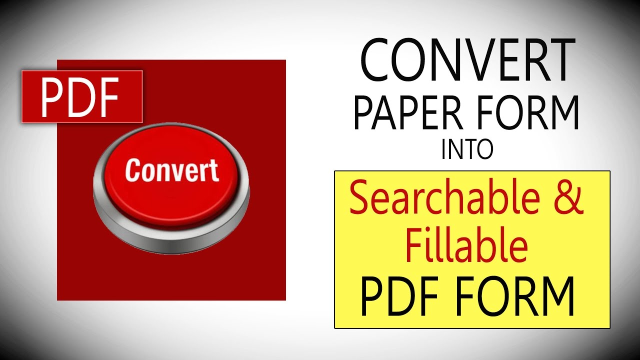 how to turn a pdf into a fillable form