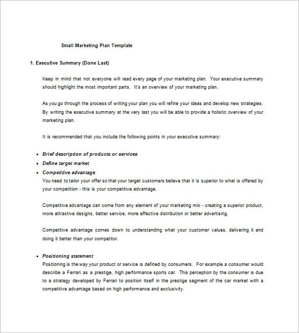 how to write target market in business plan sample