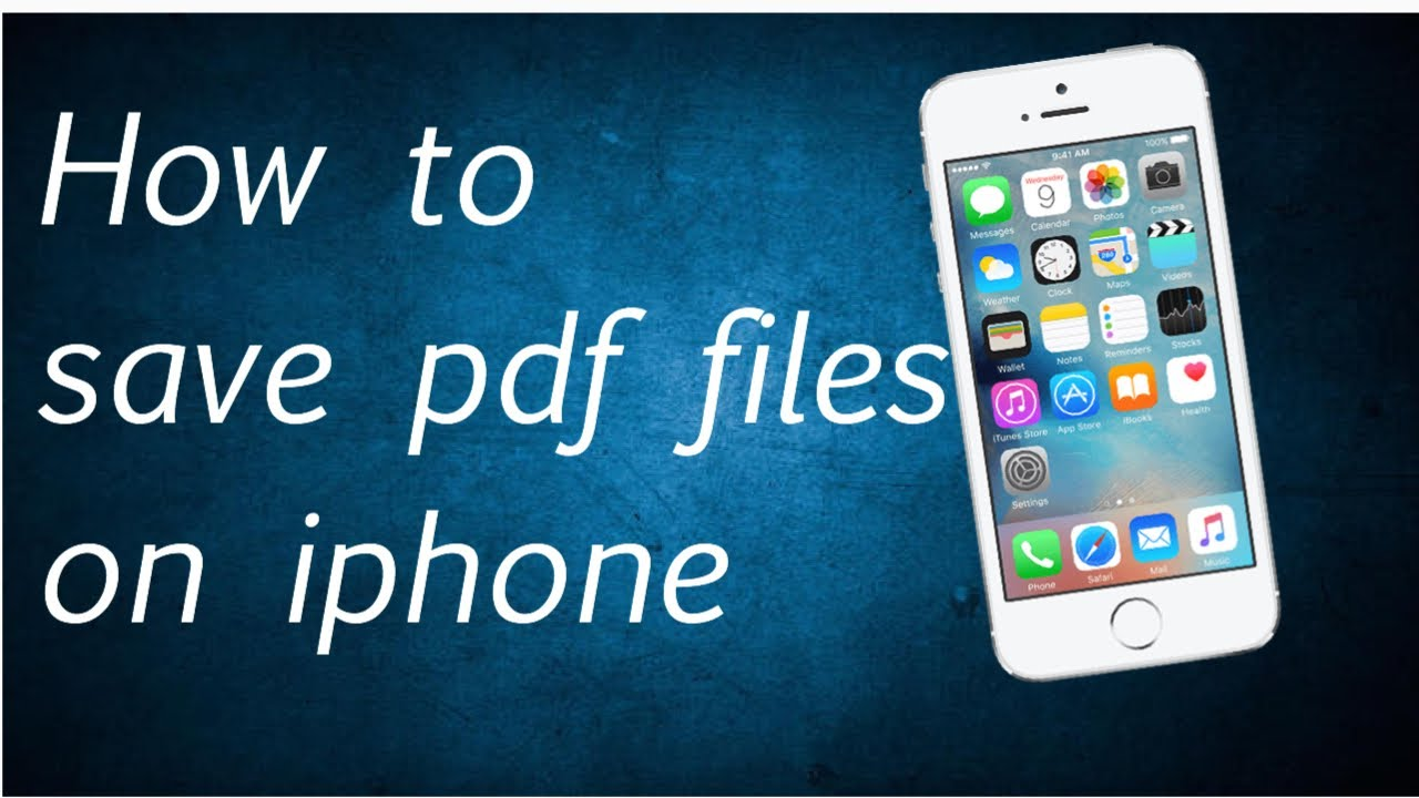 how to save a pdf to my iphone
