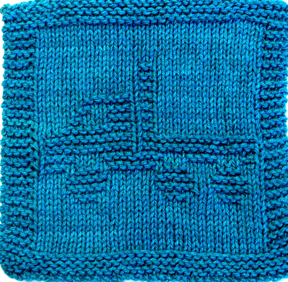 knitted dishcloth pattern pdf