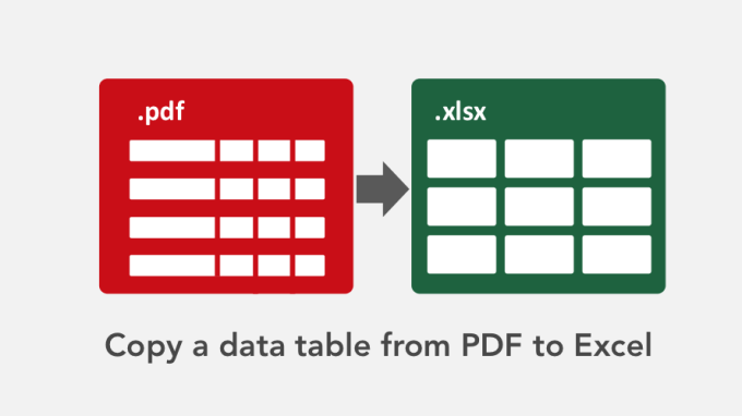 extract data from pdf to excel using vba