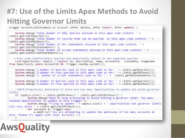 governor limits in salesforce pdf