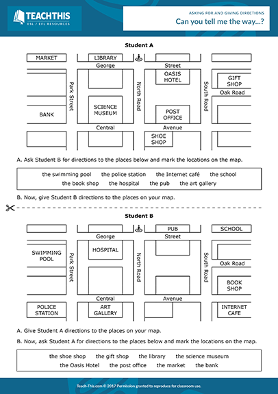 esl finding places on a map pdf