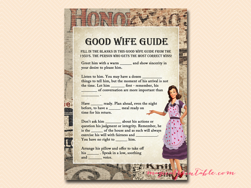 good housewife guide