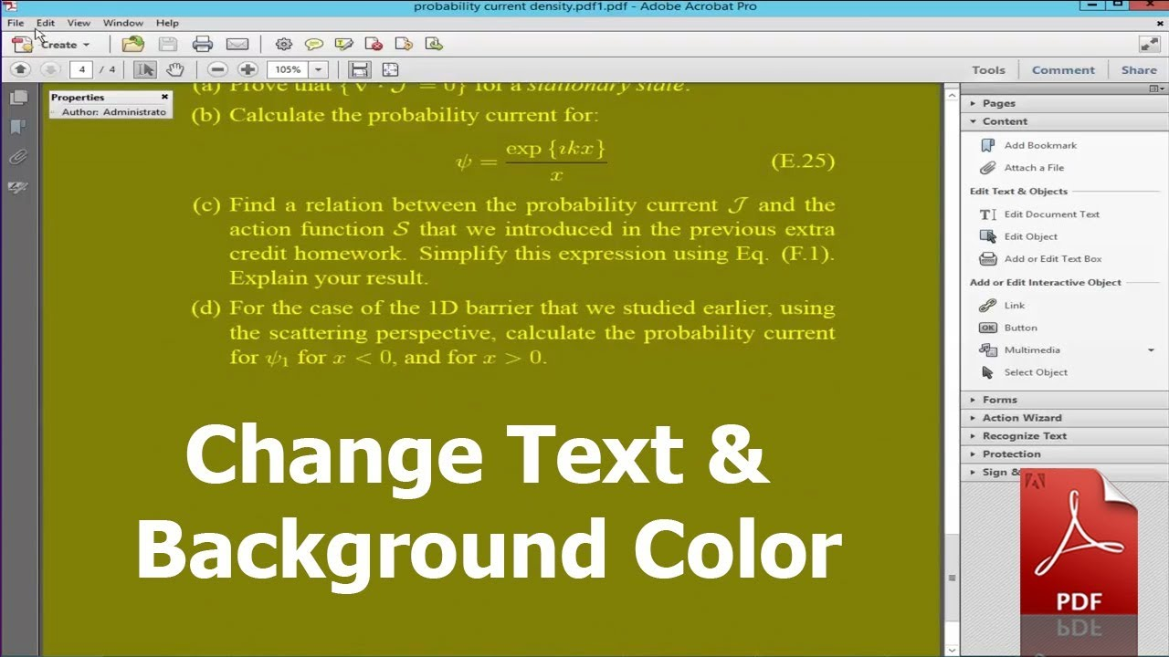 how to change font colour of pdf