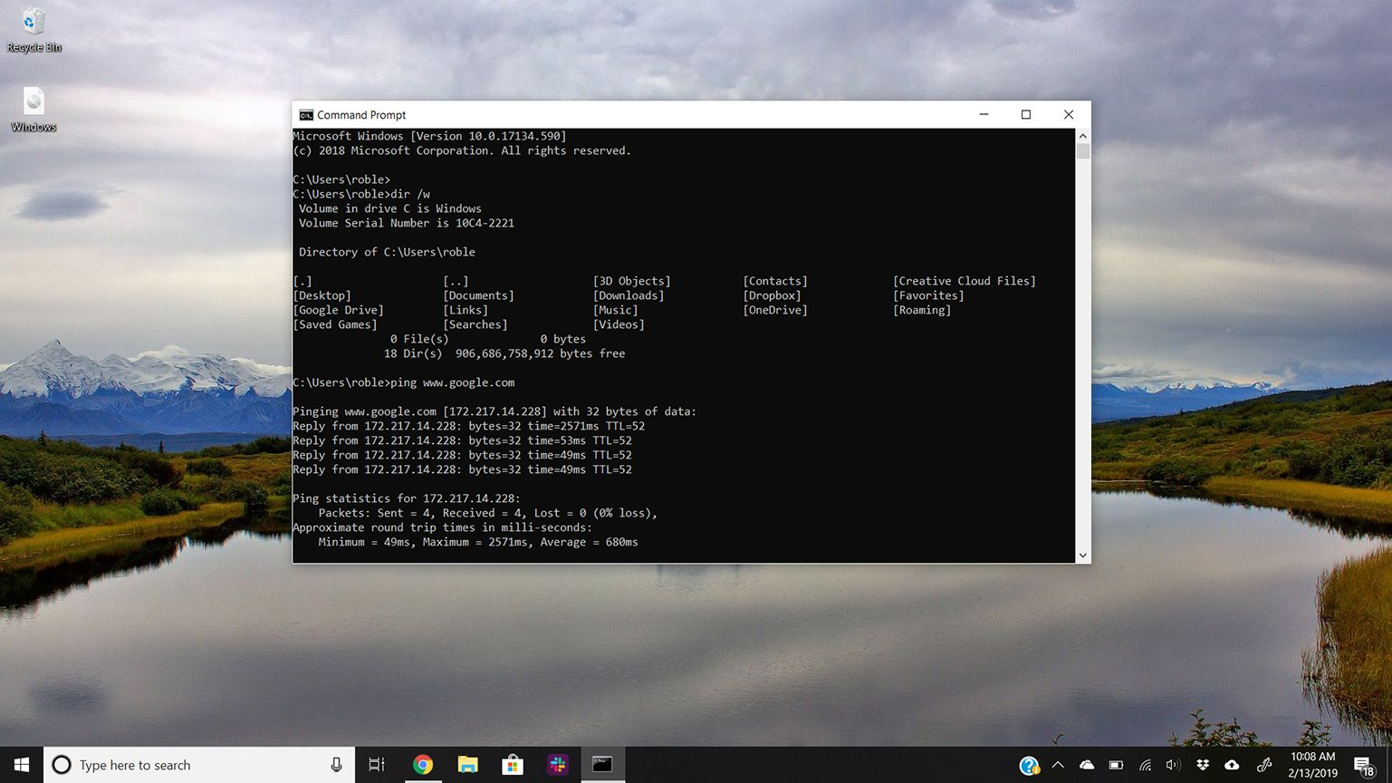how to open ms dos application file in windows 10