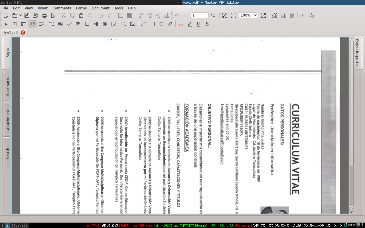 how to save pdf after rotating